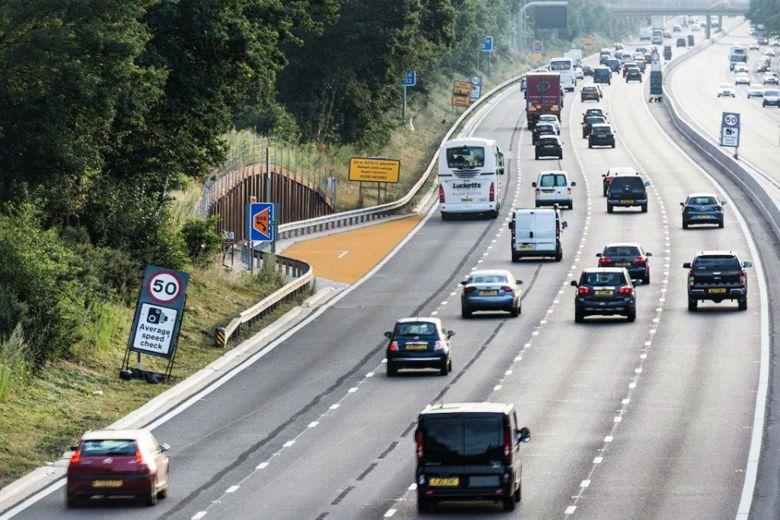 A SMART Motorway Showing An Emergency Refuge Area
