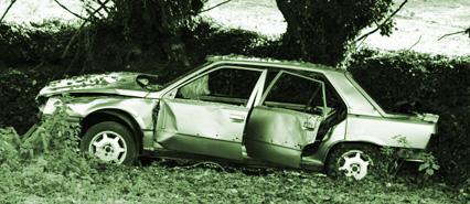 An Image of a Badly Damaged Vehicle