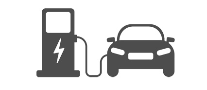 Graphic Illustration of an Electric Powered Vehicle